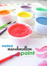 marshmallow paint made with real marshmallows completely edible