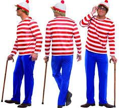 Wheres Waldo Halloween Costume U0027s Wally Licensed Costume Trousers Hat