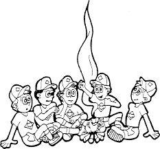 campfire coloring page fleasondogs org