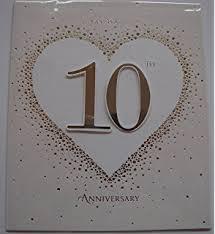 10th wedding anniversary in 10th wedding anniversary card tin