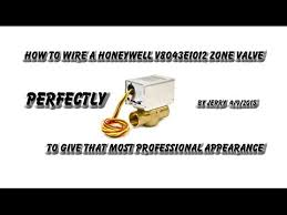 how to wire a honeywell v8043e zone valve youtube