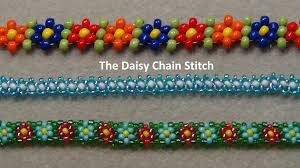 diy beaded flower bracelet images Beaded daisy chain stitch tutorial jpg