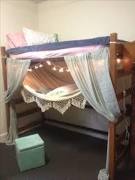 Dorm Room Lofted Bed And Hammock College Dorm Pinterest Loft - Dorm bunk bed