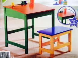 Wooden Drawing Desk Drawing Table For Kids Desk Amp Stool Storage Kids Childs Children