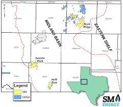 Midland Texas Map Sm Energy Buys Midland Sells Williston In Deals Worth 1 9