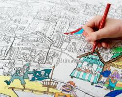 seaside coloring etsy