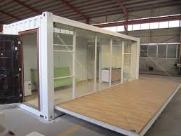 20ft glass wood modified container house steel structure