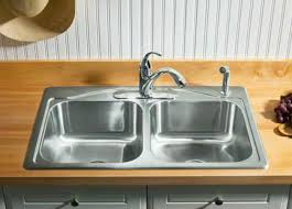 Double Kitchen Sink  Stainless Steel CADENCE KNA Kohler - Kohler double kitchen sink