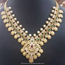emerald gold necklace images 22k gold emerald necklace south india jewels jpg