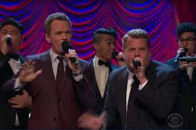 neil patrick harris and james corden had a broadway sing off