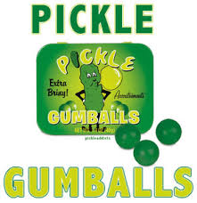pickle candy pickle flavor gumballs dill flavored gum balls candy pickling