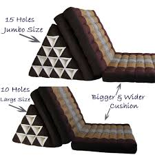 thai triangle pillow cushion fold out day bed three fold jumbo