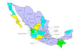 political map of mexico mexico political map