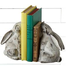 rabbit bookends cast iron distressed rabbit bookends antique farmhouse