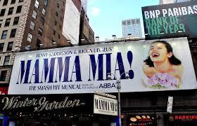 Winter Garden Theater Broadway - nyc mama mia billboard at winter garden theatre editorial
