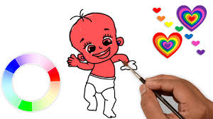 how to draw a boy for kids learning coloring pages for children