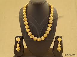 gold beaded necklace set images Ethnic beaded jewellery antique design gorgeous golden finishing jpg