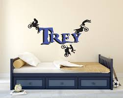 motocross decor dirt bike wall decal personalized boys zoom