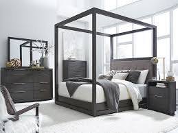 Stratford Basalt Grey Queen Canopy Bedroom Set At Rothman Furniture - Black canopy bedroom sets queen