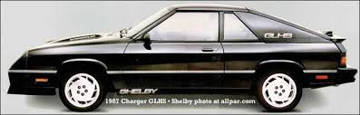 1986 dodge charger shelby turbo for sale dodge charger four cylinder turismo plymouth horizon tc3 and