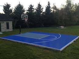28x34 backyard basketball court waiting for the kids to get home