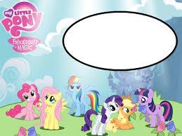 my pony free printable invitation templates