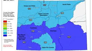 colorado snowpack map statewide snowpack average approaching rarefied 150 percent of