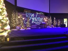 Christmas Light Projectors by Pallet Projection Church Stage Design Ideas