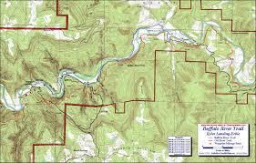 Ouachita Mountains Map Buffalo River Trail Western Section Free Detailed Topo Map