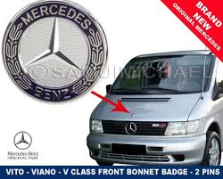 lexus is200 breaking birmingham mercedes vito v class front bonnet badge flat style 2 pins new