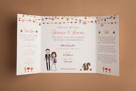 autumn wedding invitations autumn wedding invitation to and fromto and from