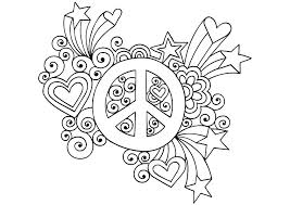 coloring pages of peace signs peace symbol coloring pages sign