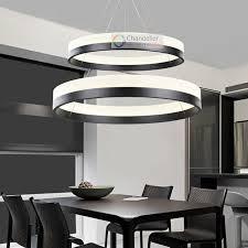 Modern Design Chandelier Two Sizes Modern Contemporary 2 Rings Pendant Light Ceiling L