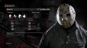 jason mask spirit halloween check out stat screens for every playable jason in