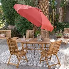 Patio Dining Set by Coral Coast Summer Acacia Wood 8 Piece Patio Dining Set Hayneedle