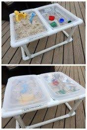 diy sand and water table pvc diy sand water table pvc so no screws and it s take apart able