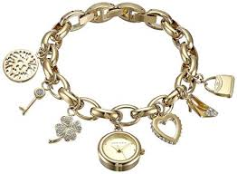 anne klein charm bracelet watches images Anne klein women 39 s 10 7604chrm swarovski crystal gold jpg