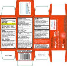 aspirin enteric coated regular strength tablet coated walgreen