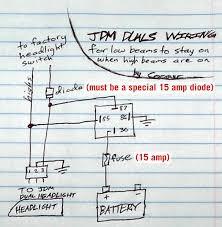 jdm dual headlight wiring