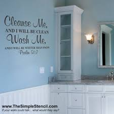 pictures for bathroom walls a psalms bible verse that is the perfect decor for a bathroom