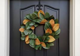 decorative wreaths for the home decor charming magnolia wreath to decorate the front door area