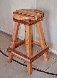 Counter Stool Backless Backless Wooden Bar Stool Custom Made Redwood Stools