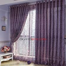 Lavender Blackout Curtains Romantic Lavender Feeling Flocking Blackout And Thermal Curtains