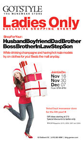 Shopping Ideas by Ladies Shopping Night Tuesday November 16 Gotstyle