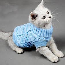 turtleneck pet cats sweater aran pullover knitted doggie