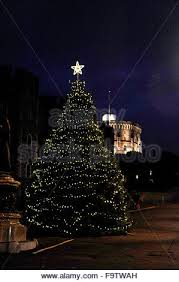 christmas lights in windsor berkshire uk and the christmas tree