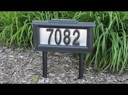 light up address sign solar powered light up street address sign youtube