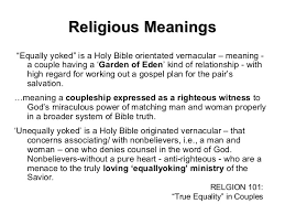 equally yoked religious doctrinal biblical moral
