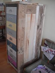 Retro Filing Cabinet Wendy A Retro Filing Cabinet With Reclaimed Pallet Wood Top And