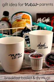 christmas gifts for new breakfast basket idea diy mugs for new parents